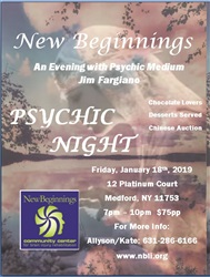 An Evening with Medium/Psychic Jim Fargiano - January 18th, 2019